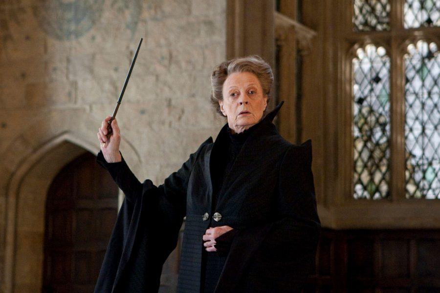Minerva McGonagallová s hůlkou